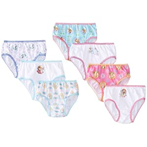 Disney Little Girls' Frozen Seven-Pack Panty Set