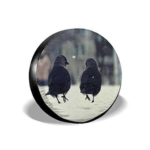 Spare Tire Cover Birds WaterProof Dust-proof Universal Wheel Cover,Fit For For Jeep,Trailer, RV, SUV 15 Inch ()