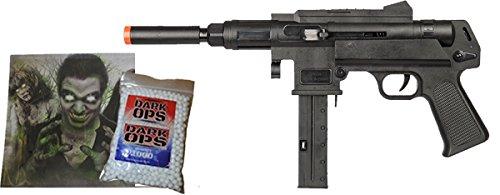 Mini-Uzi Tactical SPRING Airsoft Gun 6mm BB Pistol w/ 1000 BBs & Target (Bb Gun Uzi)