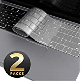 MacBook Air 13 Inch Keyboard Cover [2-Pack], i-Blason Clear Ultra Slim Silicone Keyboard Skin Protector for Apple MacBook Air 13 Inch 2018 Release A1932 with Retina Display and Touch ID