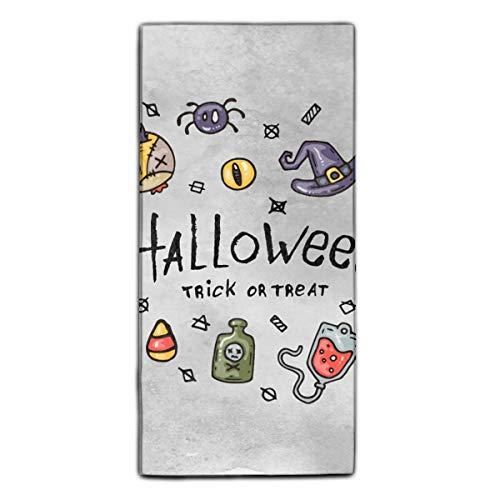 Washcloths Printed Design, Cartoon Halloween Hair Towel Soft