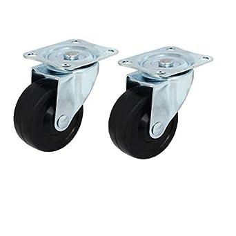 eDealMax 2, 5 pulgadas Individual Dia ruedas 360 grados giratoria Con placa Superior 2pcs pivote de la ruedecilla: Amazon.com: Industrial & Scientific