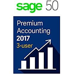 Sage Software Sage 50 Premium Accounting 2017, 3-User