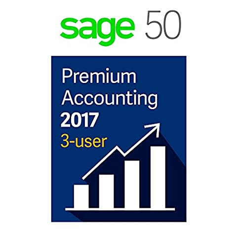 Sage Software Sage 50 Premium Accounting 2017, 3-User (Office Small Business Premium)