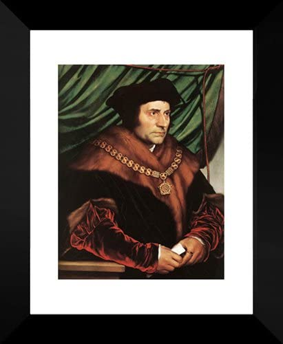 Sir Thomas More Holbein Art Poster Hans Holbein Canvas Print the Younger