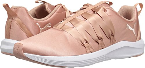 PUMA Women's Prowl Alt Satin WN Sneaker, Peach Beige White, 8.5 M US