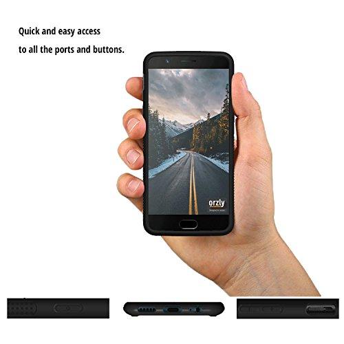 Funda OnePlus 5, Orzly Fusion [Anti-Shock] Bumper Case - Funda para el OnePlus 5 (2017 Modelo SmartPhone) �?Dura cubierta trasera (100% transparente) con bordes en NEGRO que absorben los impactos NEGRO Fusion para OnePlus 5