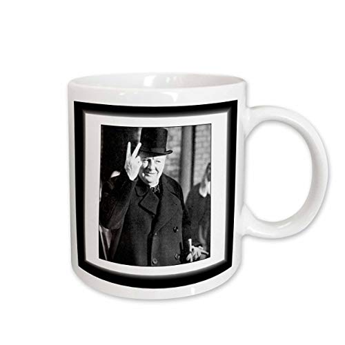3dRose mug_98649_2 Vintage Photo of Winston Churchill, Jpg Ceramic Mug, 15-Ounce