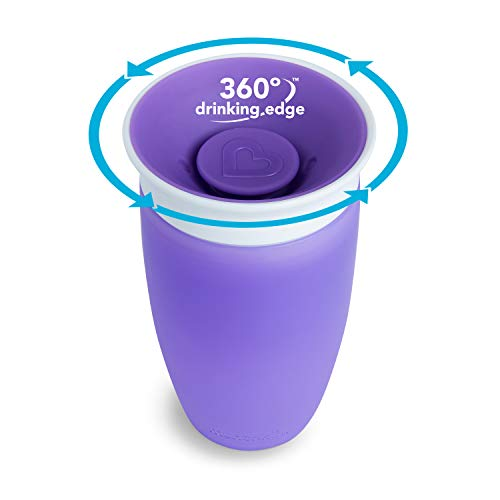 41amviM orL - Munchkin Miracle 360 Sippy Cup, Pink/Purple, 10 Oz, 2 Count