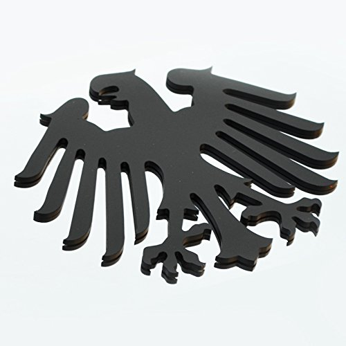 Stainless Steel Classic German Germany Eagle Metal Decorative Emblem Decal Ornament Crest Blasted, Mirror Polished, or Black 5