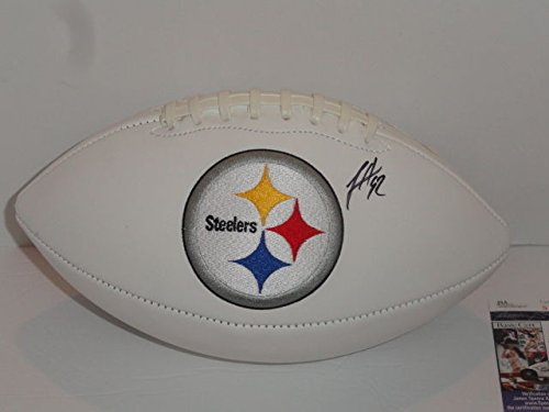 James Harrison Signed Pittsburgh Steelers Logo Football - JSA Authentic Autograph