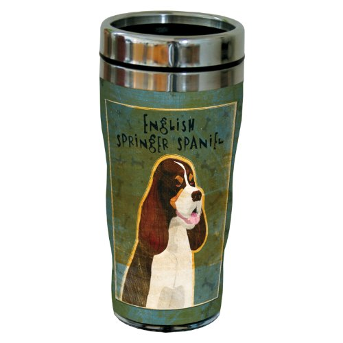 Tree-Free Greetings sg24013 Tri-Color English Springer Spaniel by John W. Golden 16-Ounce Sip 'N Go Stainless Steel Lined Travel Tumbler