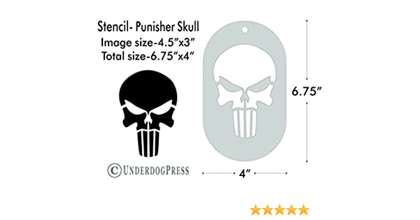 amazon com large stencil punisher skull handmade