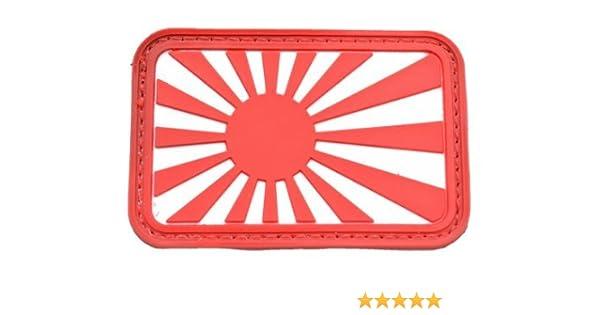 Bandera del sol naciente japones bandera de velcro parche parche ...