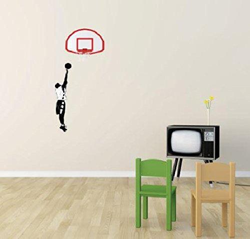 Design with Vinyl 3 Pro 129 Decor Item Basketball Player Hops Sport Boy Girl Teen Wall Decal Peel and Stick Sticker Mural, 30 x 60-Inch (Pro Hop Basketball)