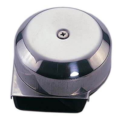 """Marine Boat Stainless Steel Compact Electric Horn 12v Diameter 3"""" Depth 2"""""""