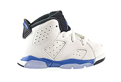 05c1ee71a6a936 Jordan 6 Retro BT Baby Toddler Shoes White Sport Blue-Black 384667-107