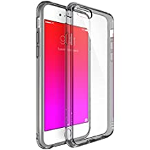 iPhone 6S / 6 Case, Ringke [Fusion] Clear PC Back & TPU bumper [Drop Protection] Attached Dust Caps with Screen Protector For Apple iPhone 6 / 6S - Smoke Black