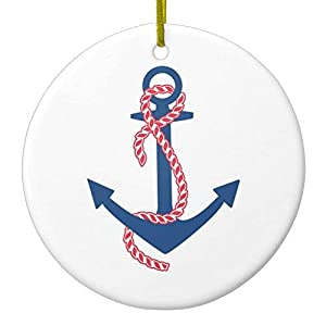 41amxSoyqvL._SS300_ 75+ Anchor Christmas Ornaments