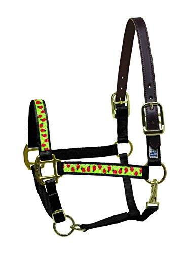 Ribbon Safety Halter Horse (Perri's Nylon Horse Ribbon Safety Halter, Black Ladybugs)