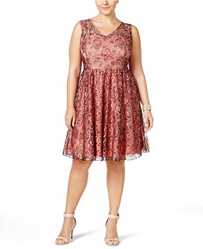 American Rag Plus Size Sleeveless Lace A-Line Dress Blush (American Rag Sleeveless)