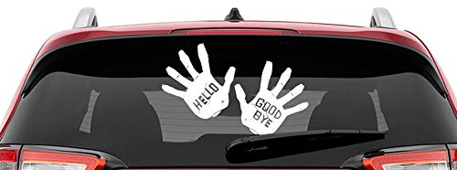 CrazyWEN-Sticker- Hello & Goodbye Vinyl Decal Hands |