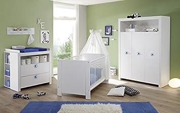 Chambre de bébé OLIVIA Kit complet en blanc avec applications en ...