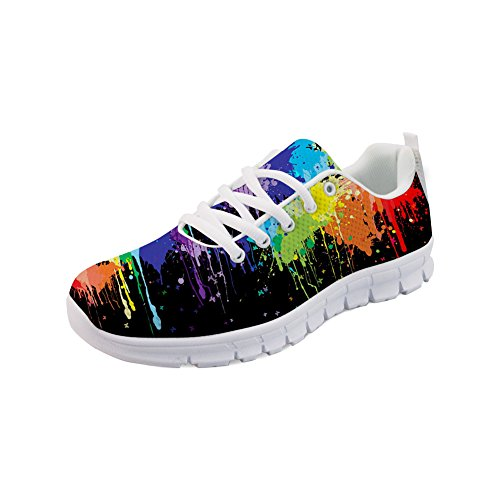 HUGS IDEA Colorful Women s Road Running Shoes Fashion Lightweight Athletic Sport Walking Sneakers