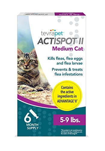 TevraPet Actispot II Flea Prevention & Treatment for Cats - Topical- for Cats 5-9 lbs from TevraPet