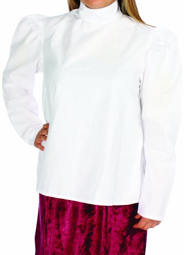 (Alexanders Costumes Women's Plus-Size Gibson Girl Blouse, White X-Large)