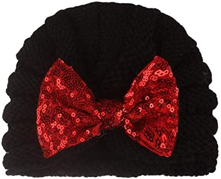FengHP Cappello da Bambina con Fiocco Cappello Bimbi Piccoli Cappelli da Annodare con Turbante Morbido Cappellino con Fascia