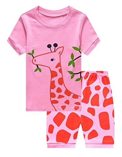 Family Feeling Graffe Little Girls' Sleepwear Toddler Pajama Set Pjs Size 7