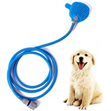 Dog Shower Sprayer with Brush- ATHOON 2017 New Pet Bathing Tool for Dog Cat Grooming Brush for Outdoor Indoor Bath, 2 Hose