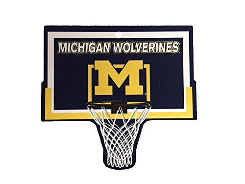 Michigan Wolverines Ncaa Basketball - University of Michigan Wolverines NCAA Basketball Hoop Street Sign
