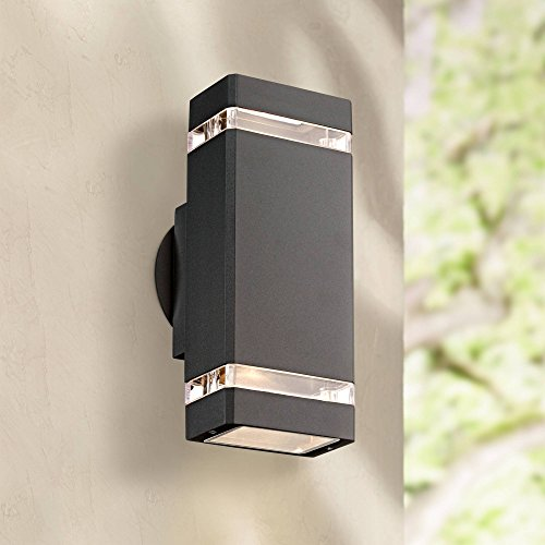 Skyridge Modern Outdoor Wall Sconce Fixture Graphite Gray 10 1/2