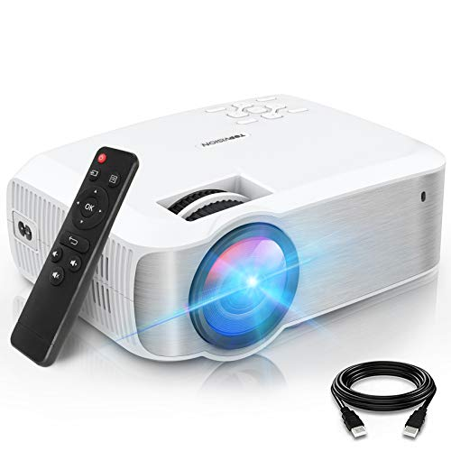 TOPVISION Mini Beamer, Native 1080P Home Cinema Beamer Ondersteunt 1080P Full HD, 7000 Lumen Video Beamer met 300…