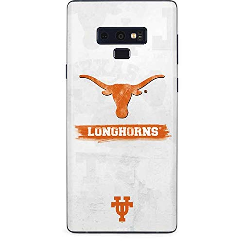 Skinit University of Texas at Austin Galaxy Note 9 Skin - Texas Longhorns Distressed Design - Ultra Thin, Lightweight Vinyl Decal Protection ()