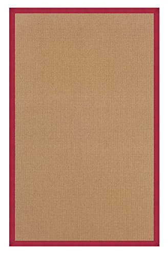 Linon Rugs Athena Cork/Red Rug Runner 2'6