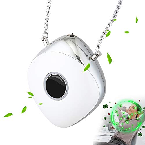 Electronic Air Necklace, Wearable Air Filter, Negative Ion Air Necklace Wearable for Both Kids and Adults, Eliminates Airborne Pollutant Particles (Ship from USA)