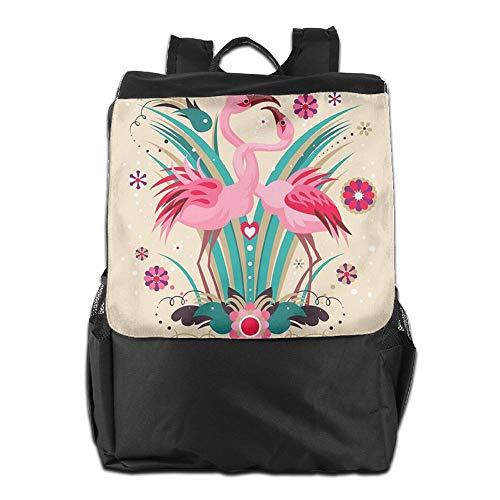 al Hombro Personalizada Correa para Hombres Ajustable de Couple School HSVCUY Aire Mochila y Camping Viaje Libre de flamencos de Mujeres Almacenamiento q6wEA