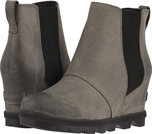 Sorel Womens Joan of Arctic Wedge Chelsea Quarry Boot - 10