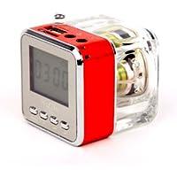 NIZHI TT-028 LED DISPLAY MINI SPEAKER USB FM SD FOR IPHONE IPAD IPOD MP3 PC TT-028 RED