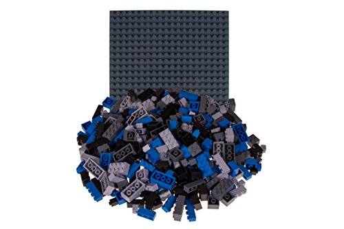 Strictly Briks Classic Bricks 336 Piece Set with 10 x 10 Baseplate 100% Compatible with All Major Brands | 4 Different Shapes & Sizes | Tight Fit Building Bricks in 4 Space Theme Colors