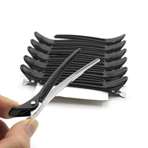 Black Plastic Hair Claw Salon Home Duckbill Clip Hair Make-Up Clamp Tool