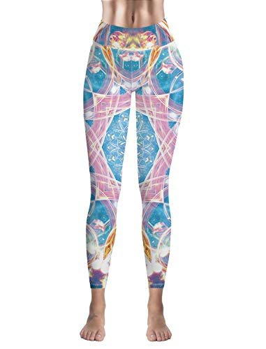 (High Waist Legging Colorful Mandala Custom Women Leggings Tights Yoga Pants)