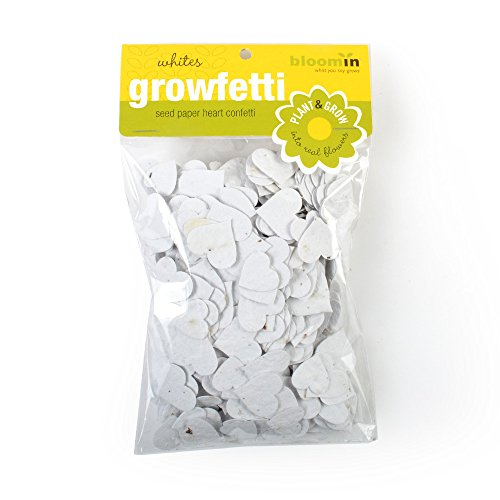 Bloomin Seed Paper Shape Packs - Growfetti - Heart Shapes {Whites}