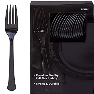 Amscan 43600.10 Big Party Pack Premium Plastic Forks, 10.6 x 10.4, Black (B0051A5BDA) | Amazon price tracker / tracking, Amazon price history charts, Amazon price watches, Amazon price drop alerts