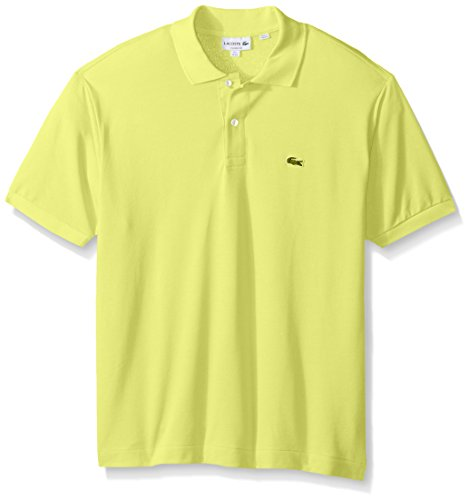Lacoste Men's Short Sleeve Pique L.12.12 Classic Fit Polo Shirt, Past Season, Limeira, - Classic Adult Pique Polo