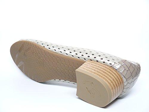 manoletina lazo de en picada charol la Zapato Beige Beige 522 PITILLOS tacon Beige 1711 ad color marca piel puntera mujer y wZq5tB