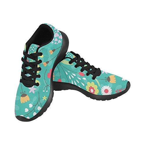Zapatillas de Negro Mujer Negro Zenzzle Lona de Para Running qdnZtT0